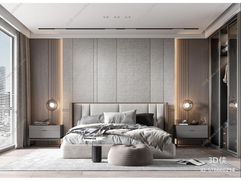 现代卧室 主卧室