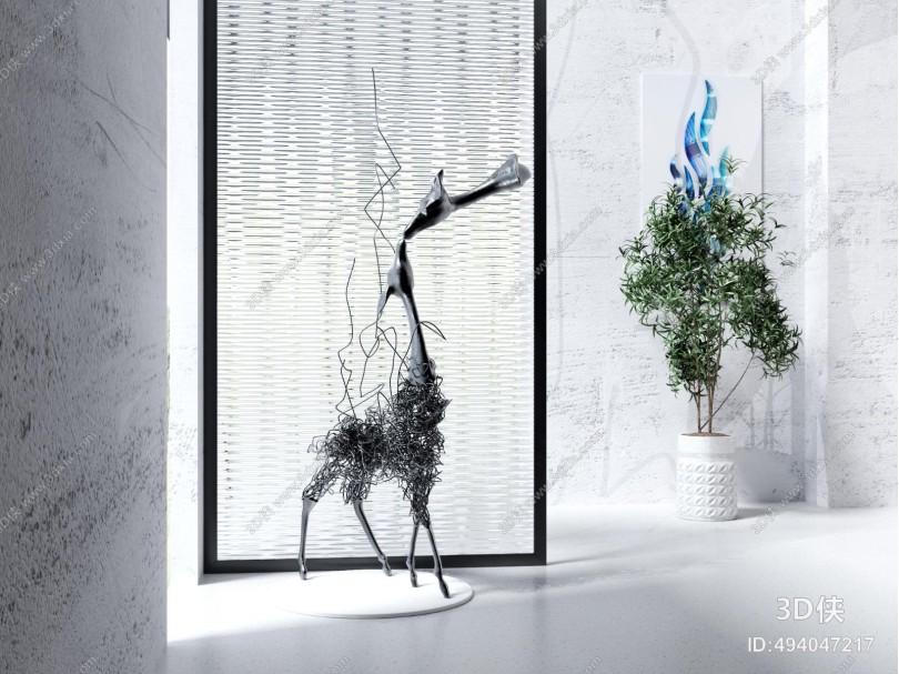 现代创意铁艺动物摆件