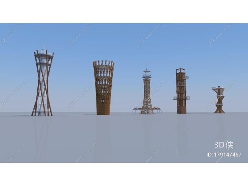 现代景观小品 眺望塔 观鸟塔