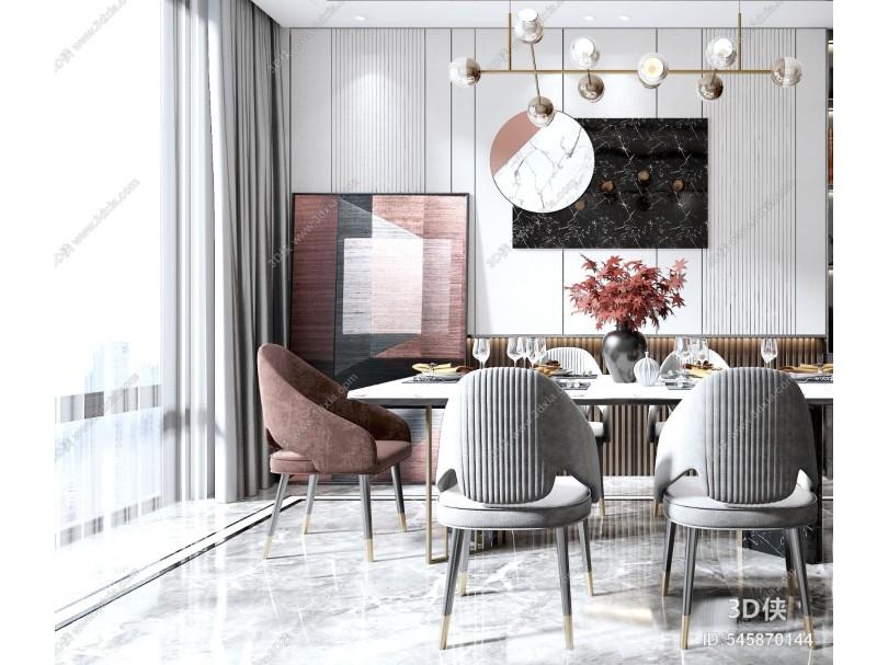 现代餐厅 餐桌餐椅