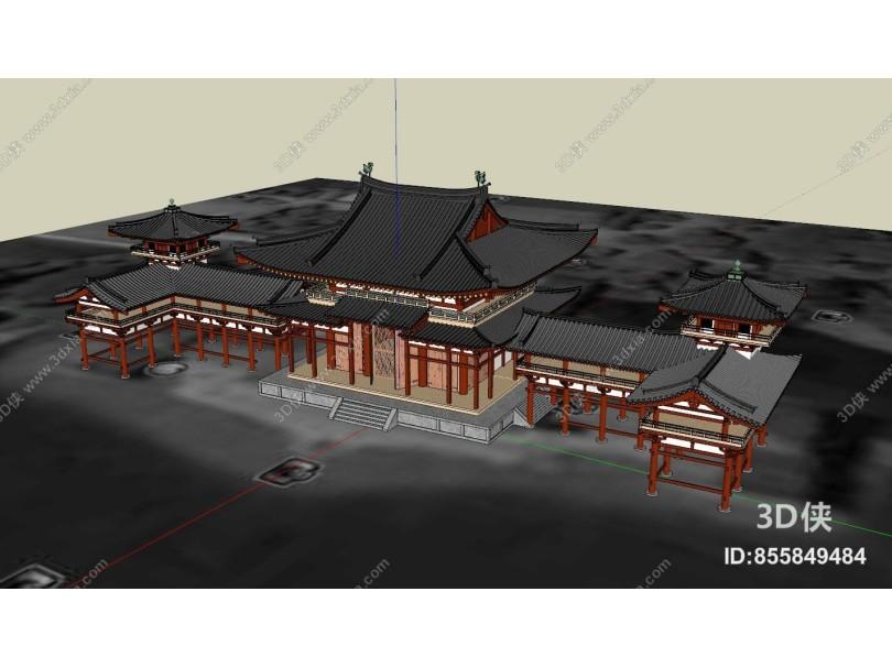 中式风格中式古建筑