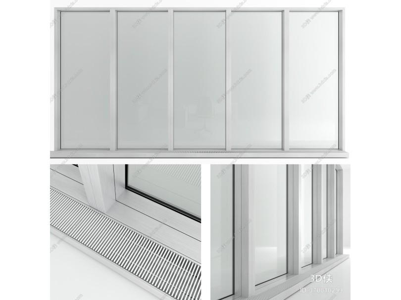现代窗户 塑钢