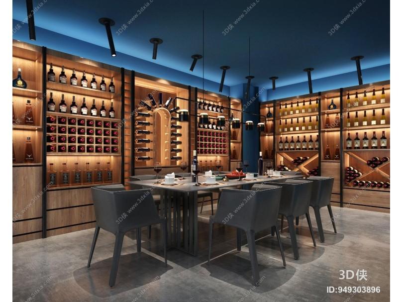 现代酒窖 酒窖 红酒超市