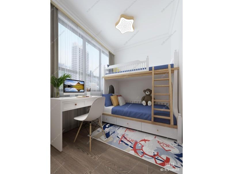 现代小孩房