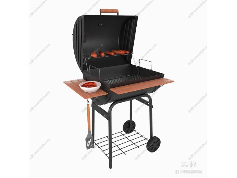 现代烧烤架 香肠 烤肠 烧烤炉