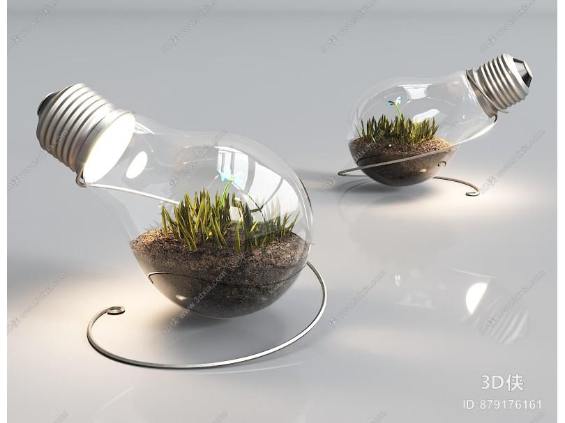 现代创意灯泡台灯