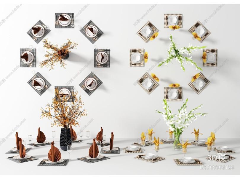 现代餐具餐盘组合