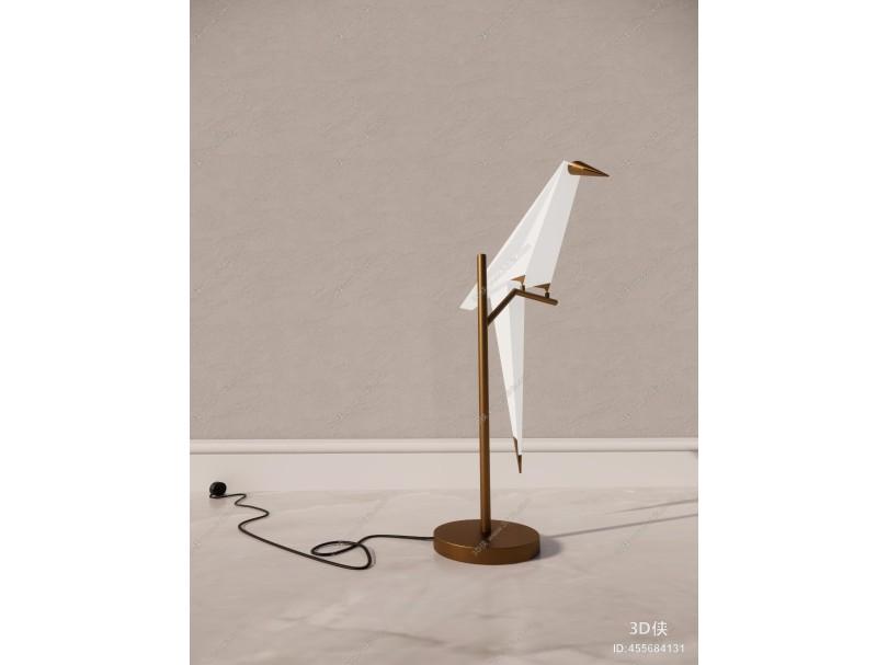 现代鹤型台灯
