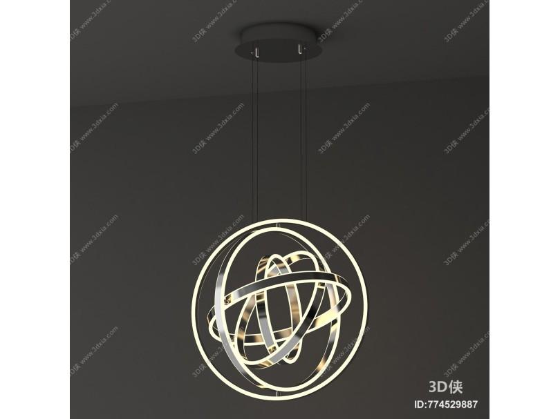 现代镜面球形吊灯