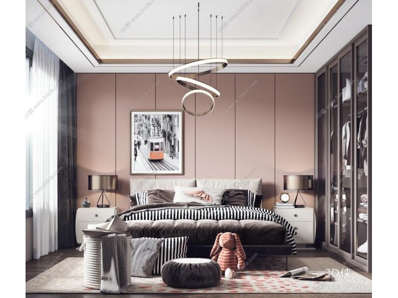 现代女孩房卧室