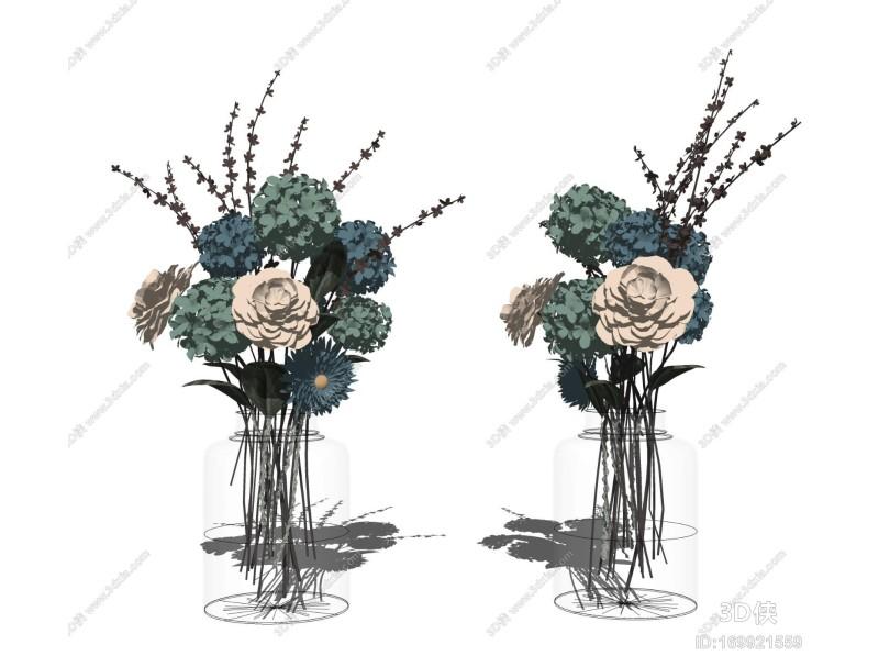 现代花艺摆件