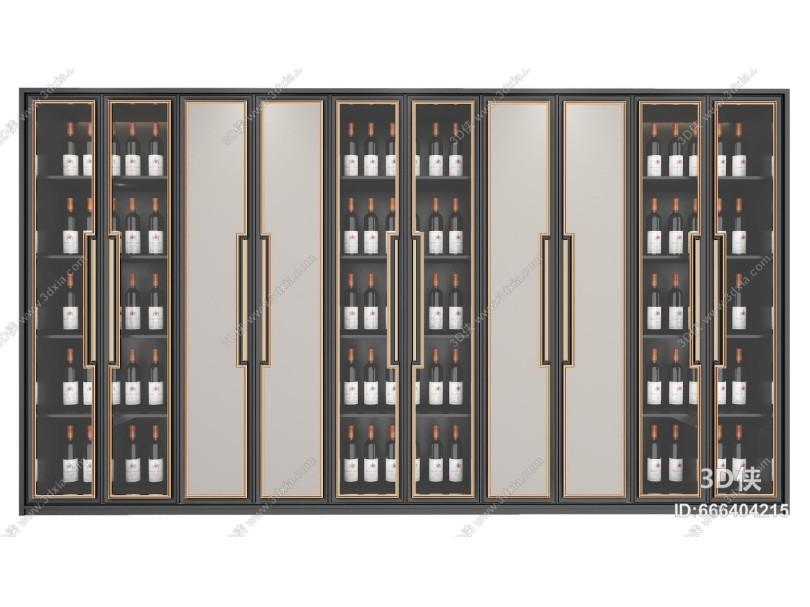 新中式酒柜 衣柜