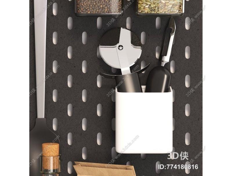 现代厨房器具用品组合