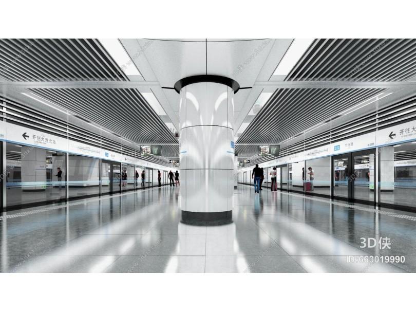 现代地铁站台
