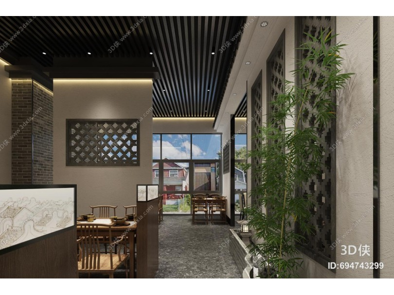 新中式餐厅 门头