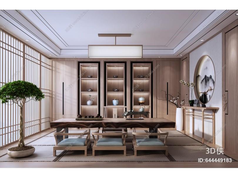 新中式榻榻米茶室