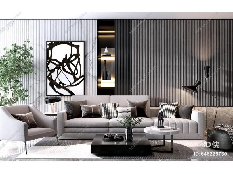现代沙发茶几 多人沙发