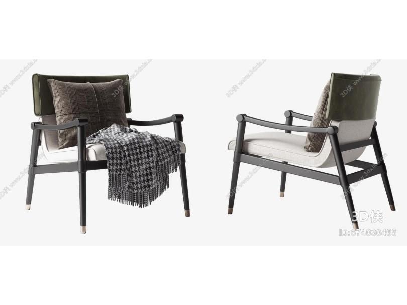 现代单人沙发组合