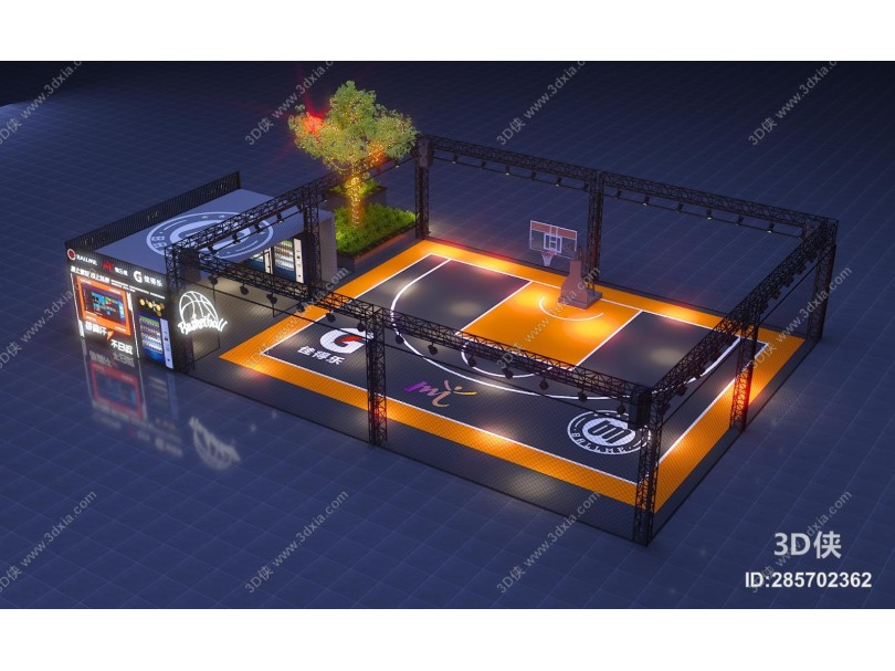 现代风格游乐场 篮球场 电玩城