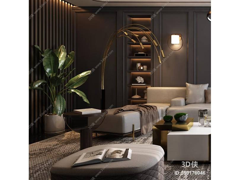 现代简约客厅 客厅 现代轻奢沙发