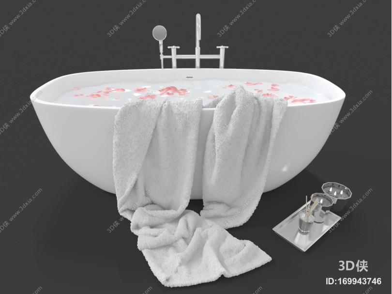 现代风格浴缸