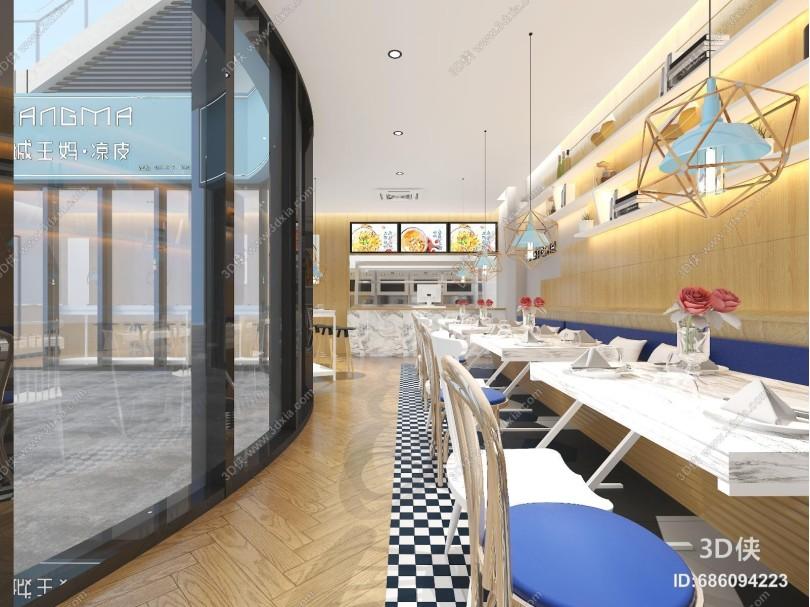 现代餐厅餐饮 快餐店 凉皮