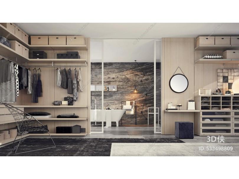 意大利Giellesse品牌现代衣帽间浴室
