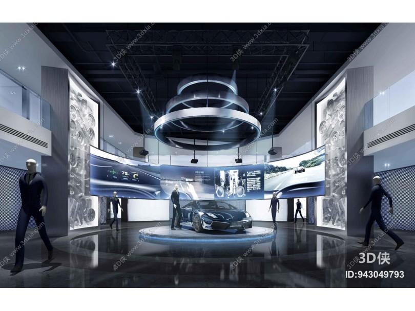 现代风格汽车展厅
