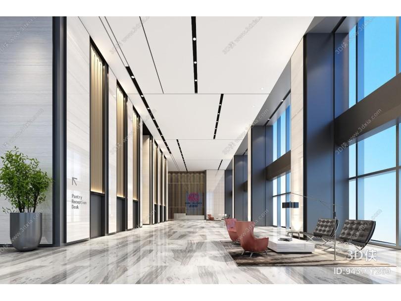 办公大厅 接待前台 写字楼大厅