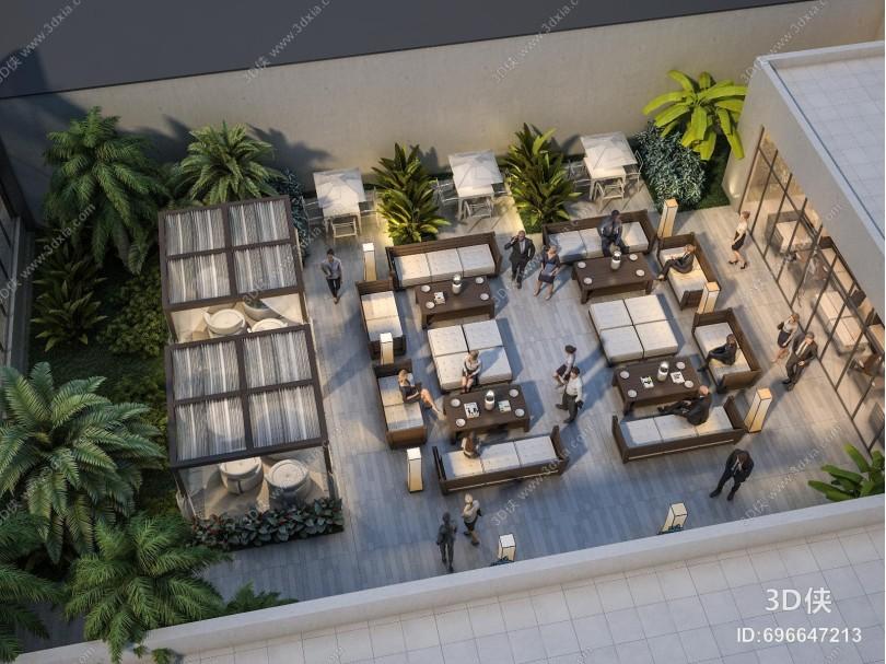 现代露台 庭院花园 阳台 休闲会所