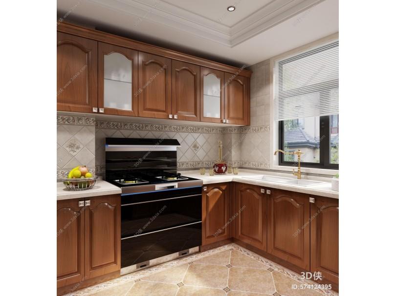 新中式厨房 橱柜