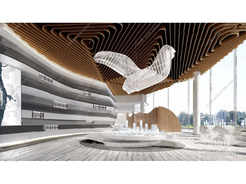 现代售楼处沙盘 现代售楼处 异形吊灯 沙盘 前台 多人沙发 单人沙发 茶几 背景墙